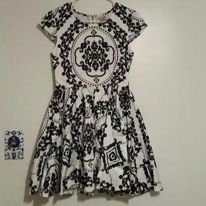 Angel Biba Dresses & Skirts - Blue black and white floral cameo dress