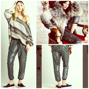 Free People Pants - Free People Sequin Print Culottes NWT