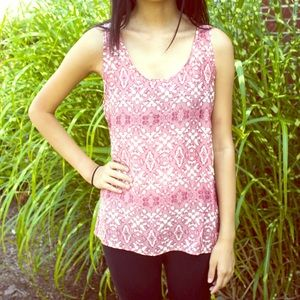 Tops - Tribal Design Pink Tank Top