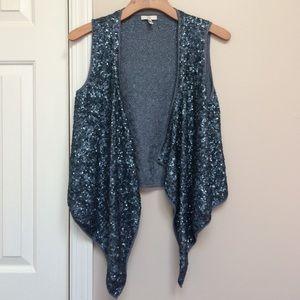 Joie mini-sequins open vest