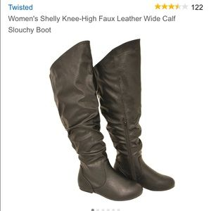 Twisted Boots - BNWOT Brown Knee High Boots