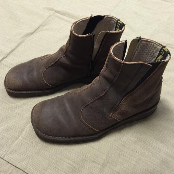 67% off Doc Martens Other - Doc Martens men's boots brown 12 side ...