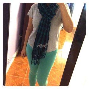Turquoise Ed hardy scarf