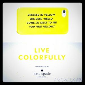 NWT kate spade Saturday yellow iphone 4 case