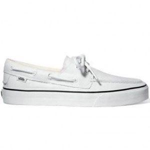 white vans boat shoes