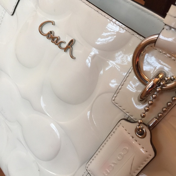 90% off Coach Handbags - Sold! Coach Purse- White Patent Leather ...