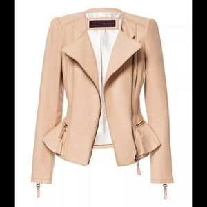 Zara leather peplum jacket