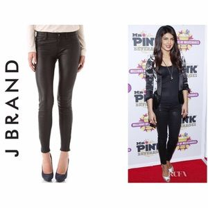 J Brand L8001 Stretch Leather Pant 27 NEW Mid Rise