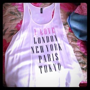 H&M Tops - I love London New York Paris and Tokyo top