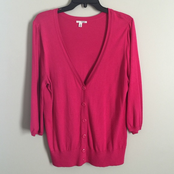 78% off Halogen Sweaters - Hot Pink Cardigan Sweater from Kate's ...