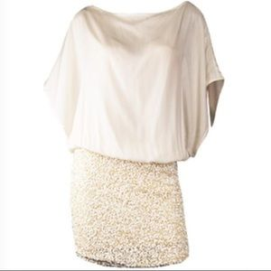 Parker Sequin combo Dolman Dress