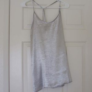 June & Hudson metallic silver slip dress tunic