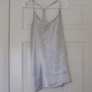 June & Hudson metallic silver slip dress tunic