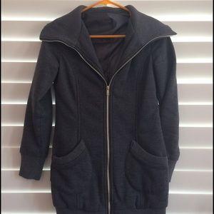 Soft sweater long jacket