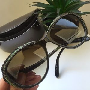 Alexander McQueen Havana Cat Eye Sunglasses NWOT