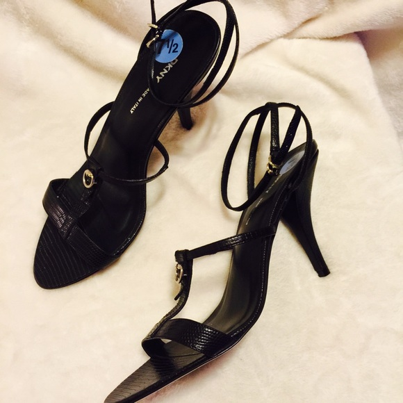 355b50656b0 Sale 💥Black DKNY strappy heels