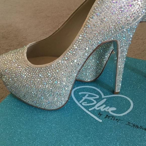 Betsey Johnson Shoes | Rhinestone Wedding Pumps | Poshmark
