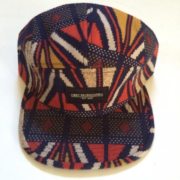 122a208d513 OBEY 📻 Aztec Adjustable Five Panel Hat. M 55330e6078b31c300d004f7d