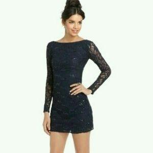 Jump Apparel Sequin Lace Dress...Sz: L....New