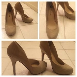 Shoes - Nude Patent Leather/ Suede Pumps👡