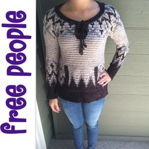 Free People Sweaters - Fp Lace up Nordic Sweater