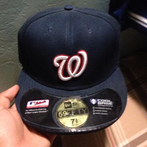 Navy blue Washington Nationals hat. M 553325ba36d59456dc0059e2 a159434b4bf