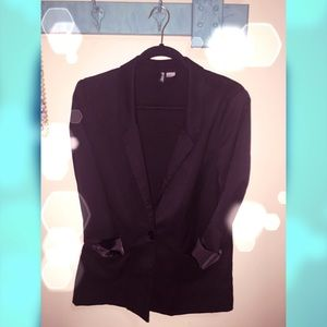 Divided by H&M Black Blazer Size: 10