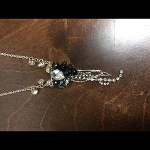 NWOT rhinestone and black necklace