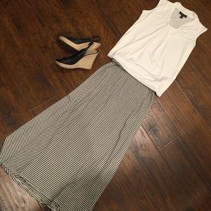 White and black full length Maxi skirt