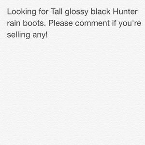 ISO Black Hunter boots