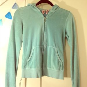 Juicy Couture velour tracksuit zip up jacket