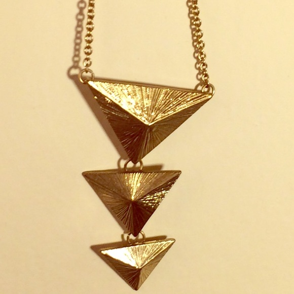 22 off Forever 21 Jewelry Gold Forever 21 Triangle necklace