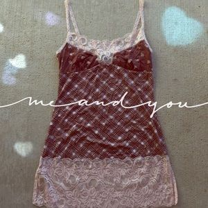NEW Pink/Brown Lace Tank!