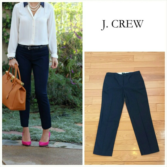 J. Crew - J. Crew Navy Cotton Linen City Fit Ankle Pants 2 from ...