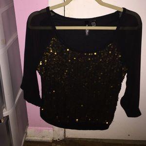 Black and gold dressy shirt