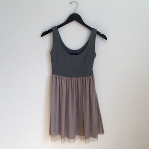 Grey and blush simple dress