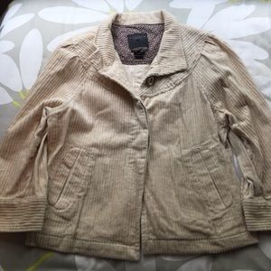 Anthropologie Khaki Swing Jacket