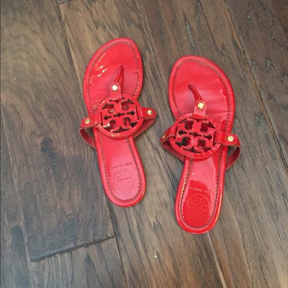 8181c223695 Tory burch red miller thong sandals. M 5533cb71291a355ecd006fee