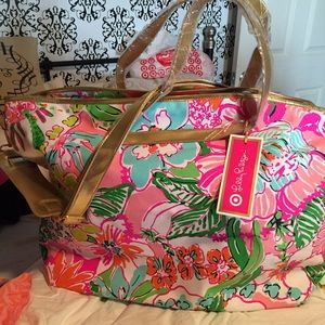 f88320468a Lilly Pulitzer Bags - Lilly for Target Weekender Bag - Nosie Posey
