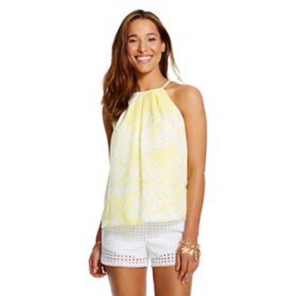 135695fe1f7c4f Lilly Pulitzer Tops | For Target Yellow And White Top | Poshmark