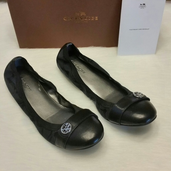 d75187c3 1 HOUR SALE! Coach Black/Black Ballet Flats Shoes NWT
