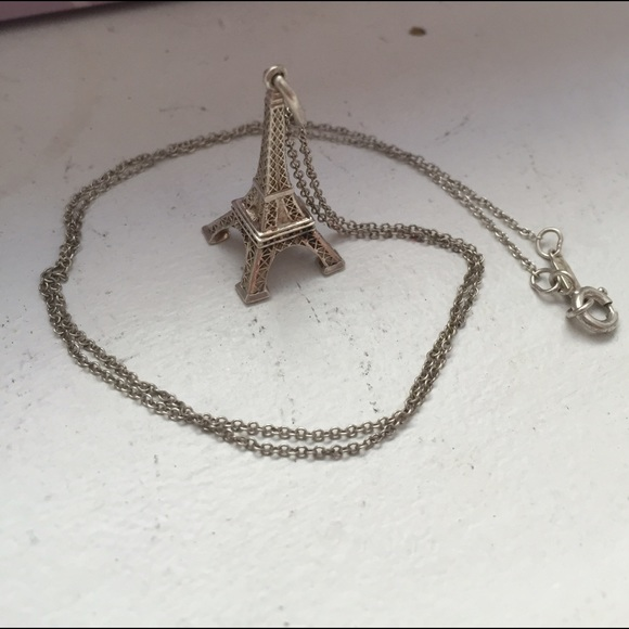 Tiffany co jewelry tiffany silver eiffel tower charm necklace tiffany silver eiffel tower charm necklace aloadofball Images