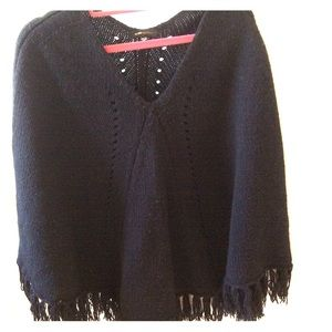 Black Poncho BCBG One-Size