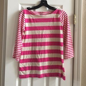 Ann Taylor Tops - Ann Taylor Loft Pink Striped Shirt