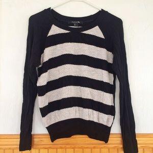 Black and White Striped F21 Sweater