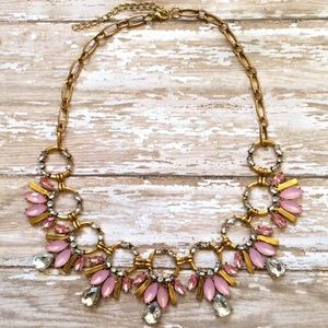 Jewelry - Pink & Clear Statement Necklace