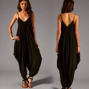 Dresses & Skirts - V Neckline All In zone Jumpsuit Playsuit Pants