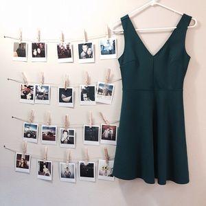 Deep v circle dress