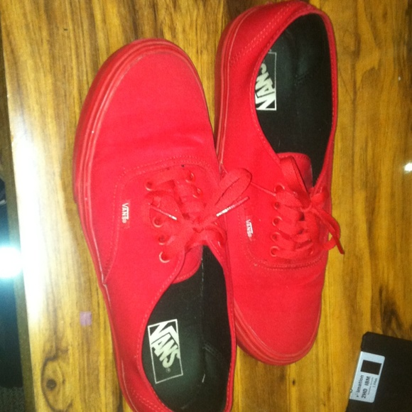 18% off Vans Shoes - All red vans. Size: 11 but 10.5 can wear too ...