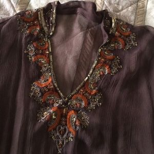 New listing: brown sheer top